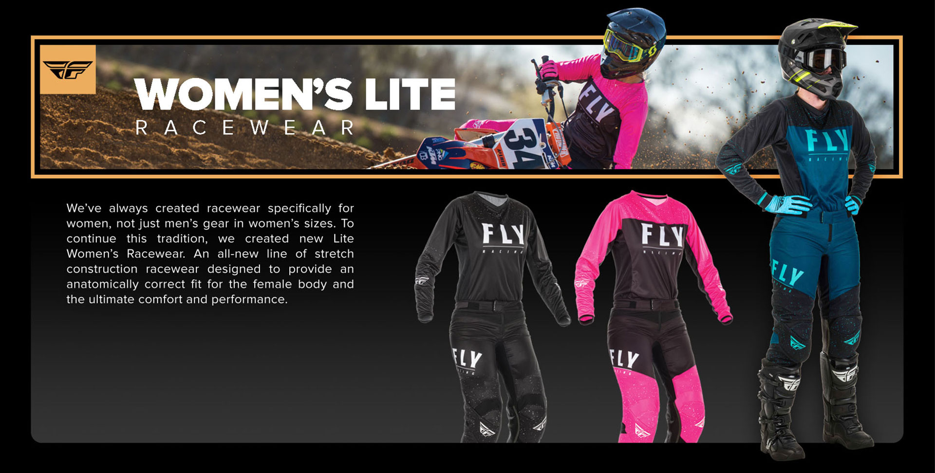 Fly Racing Womens Hydrogen Lite Racewear