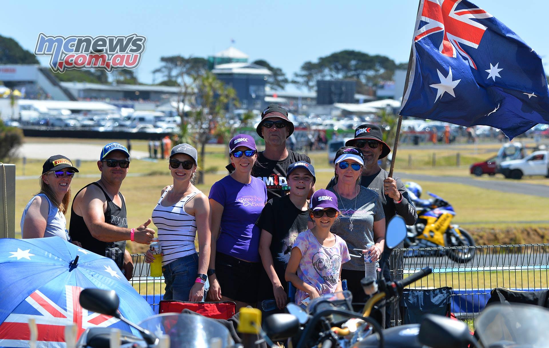 WSBK Phillip Island Action Crowd GeeBee