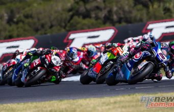 WSBK Phillip Island Action Lowes GeeBee
