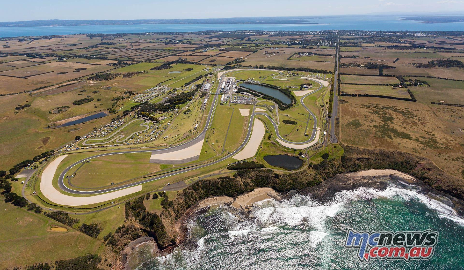 WSBK Phillip Island Aerial
