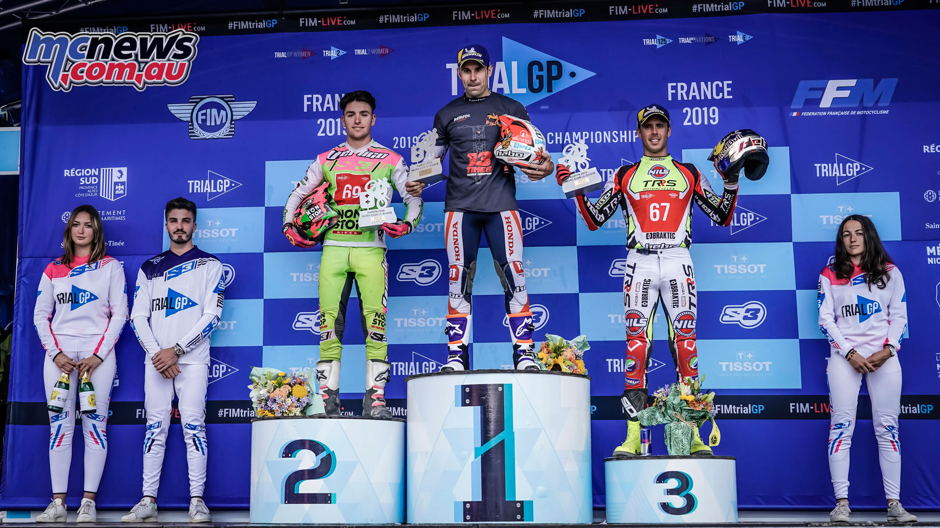 trialgp auron france Toni Bou podium