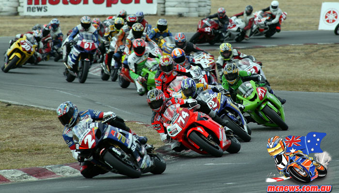ASBK Superbike Winton Giles Fergusson Johnson Stauffer