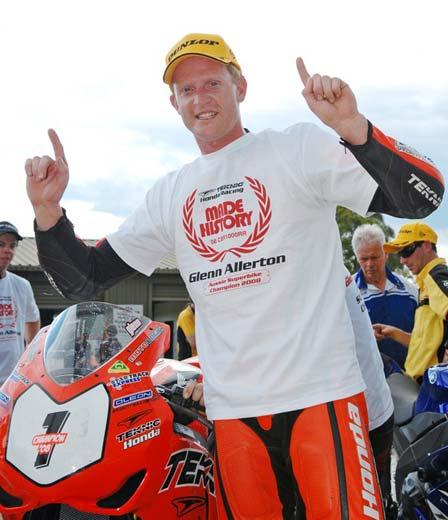 ASBK Champion Glenn Allerton