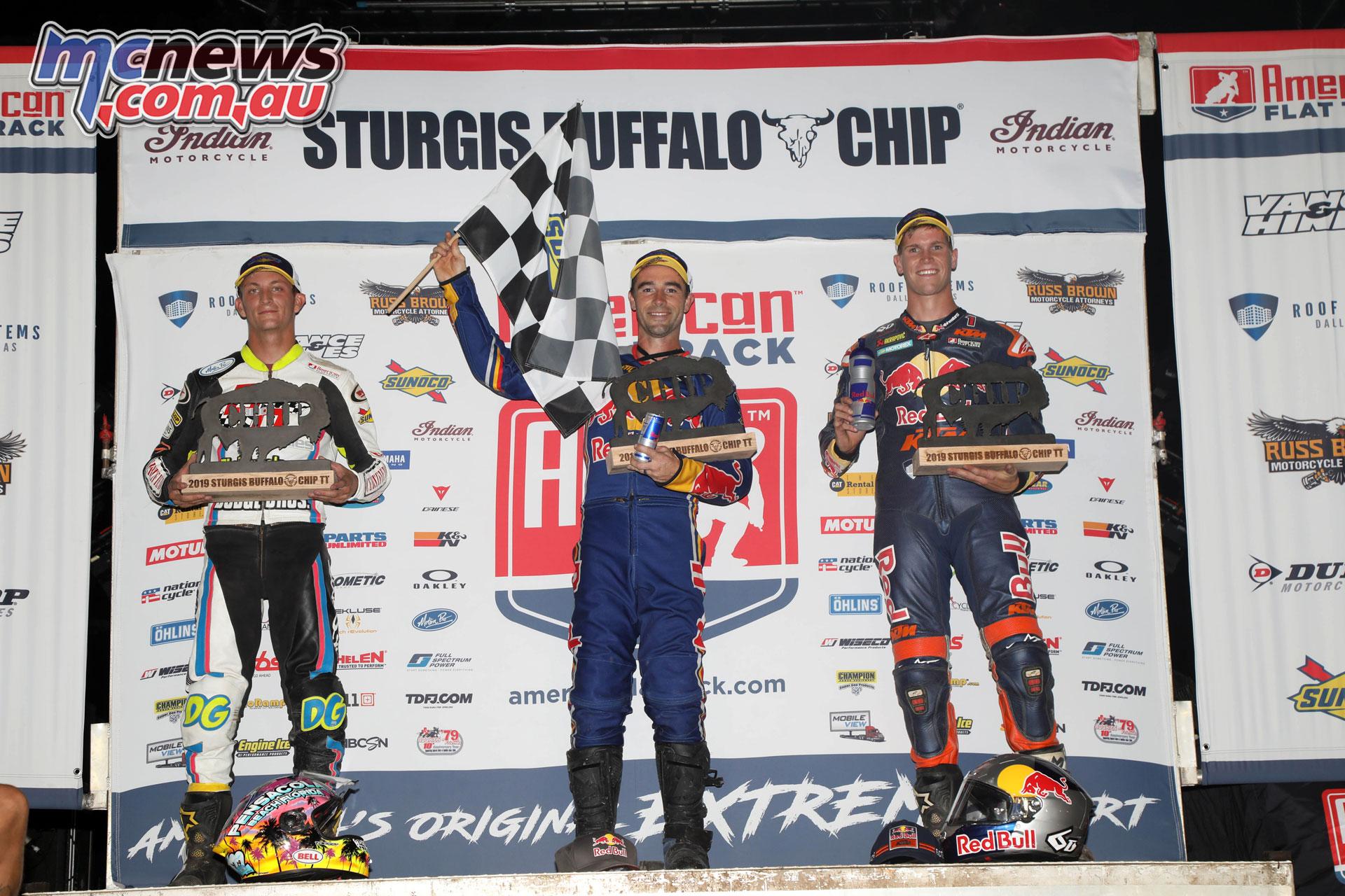 AFT Bufallo Chip TT Singles podium FA