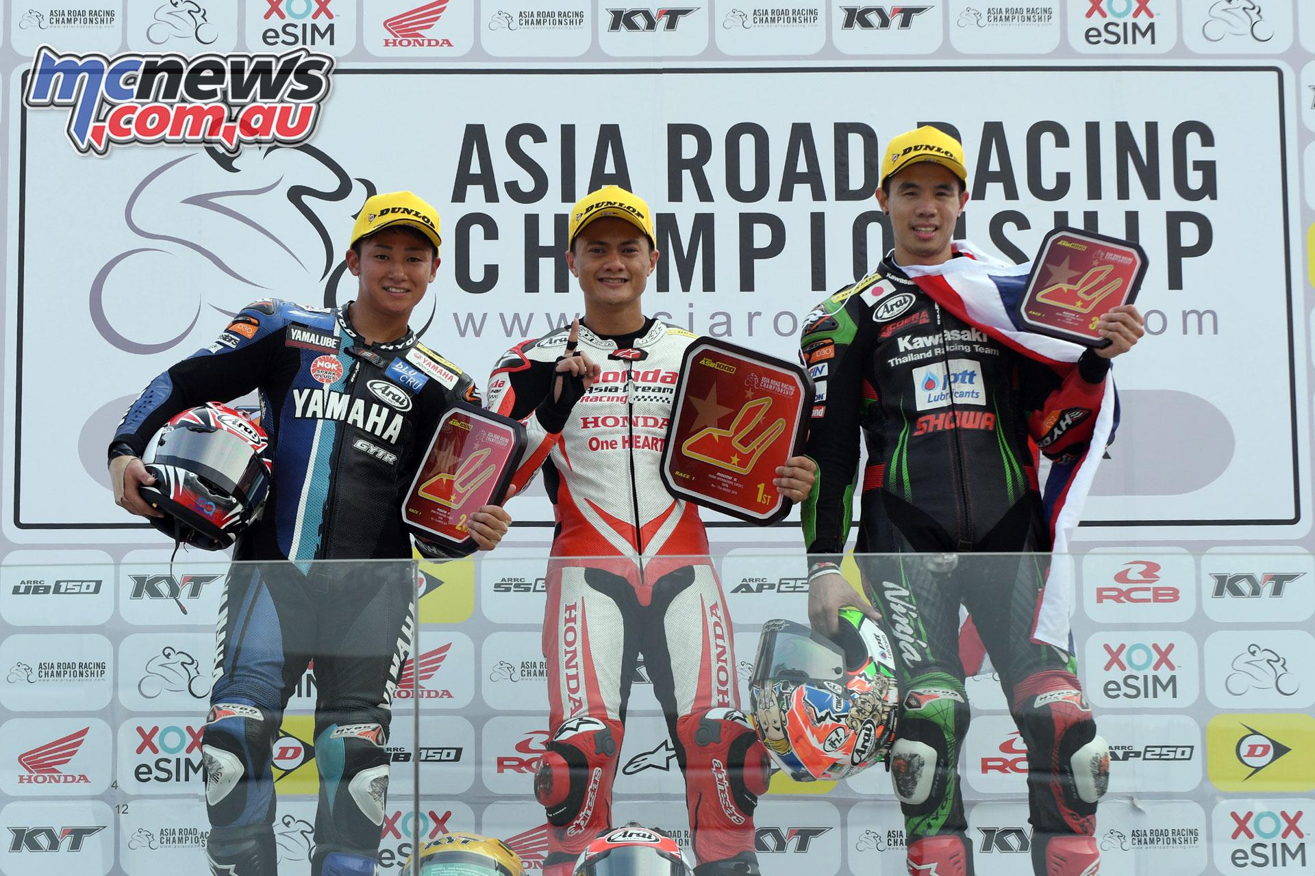 ARRC Round China ASB Race Podium