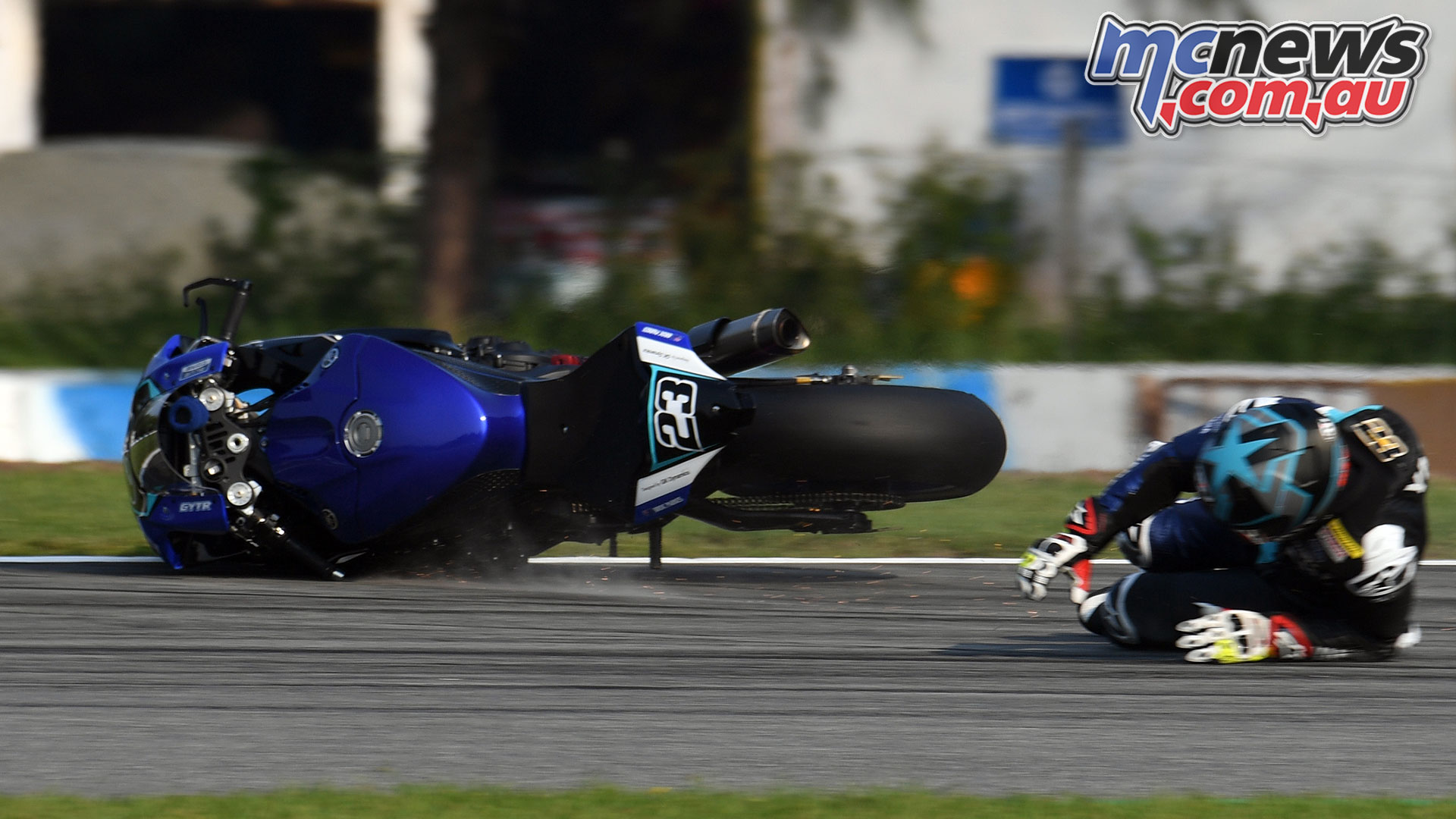ARRC Round China Broc Parkes ARRC FP Crash