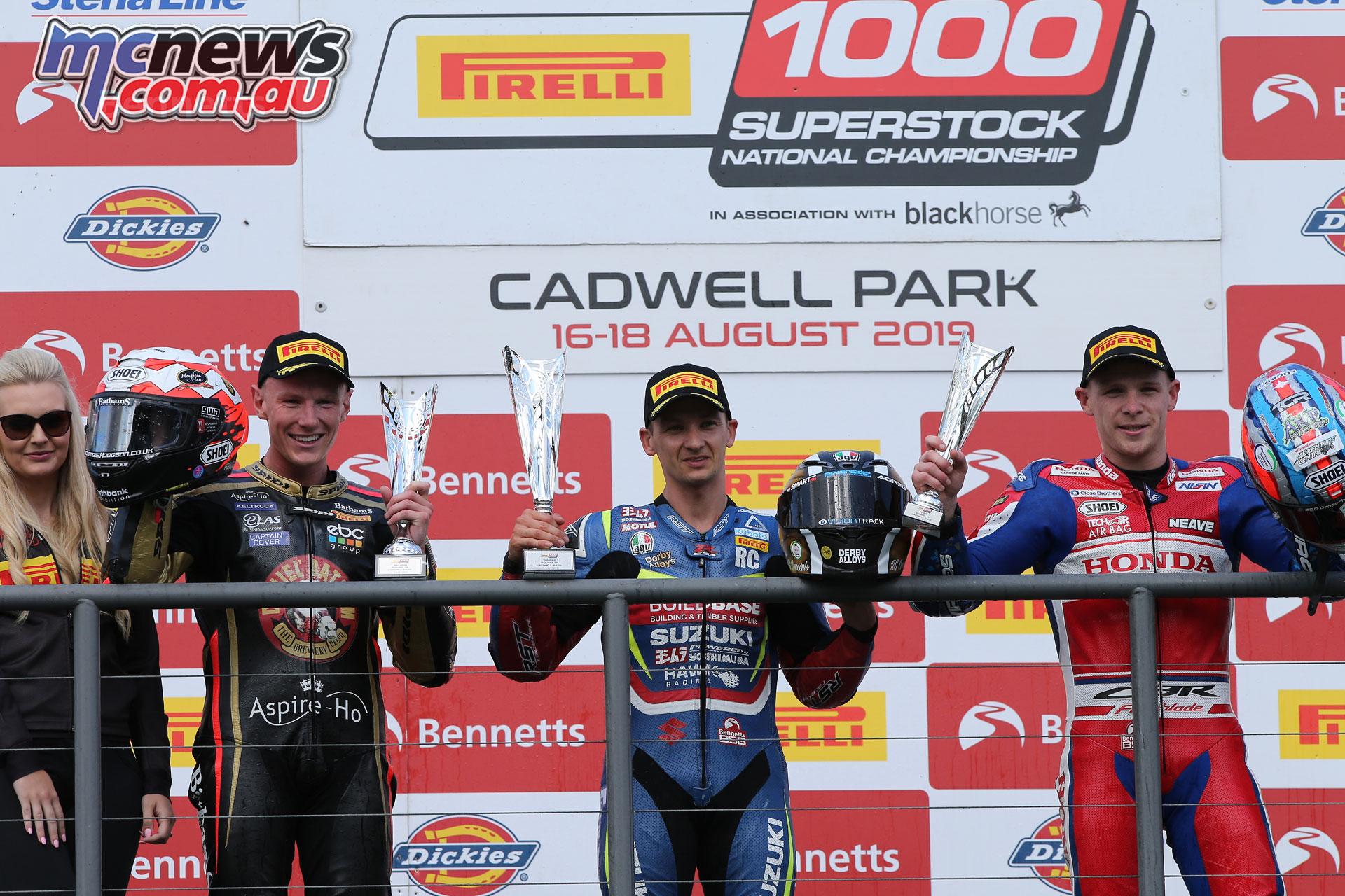 BSB Cadwell Park Richard Cooper podium AROA