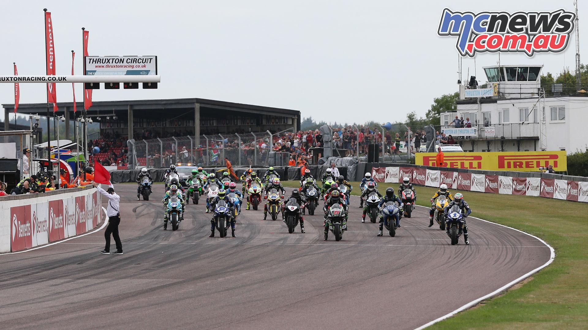 British Superbike BSB Rnd Thruxton SSP Start Kyle Ryde AUYA