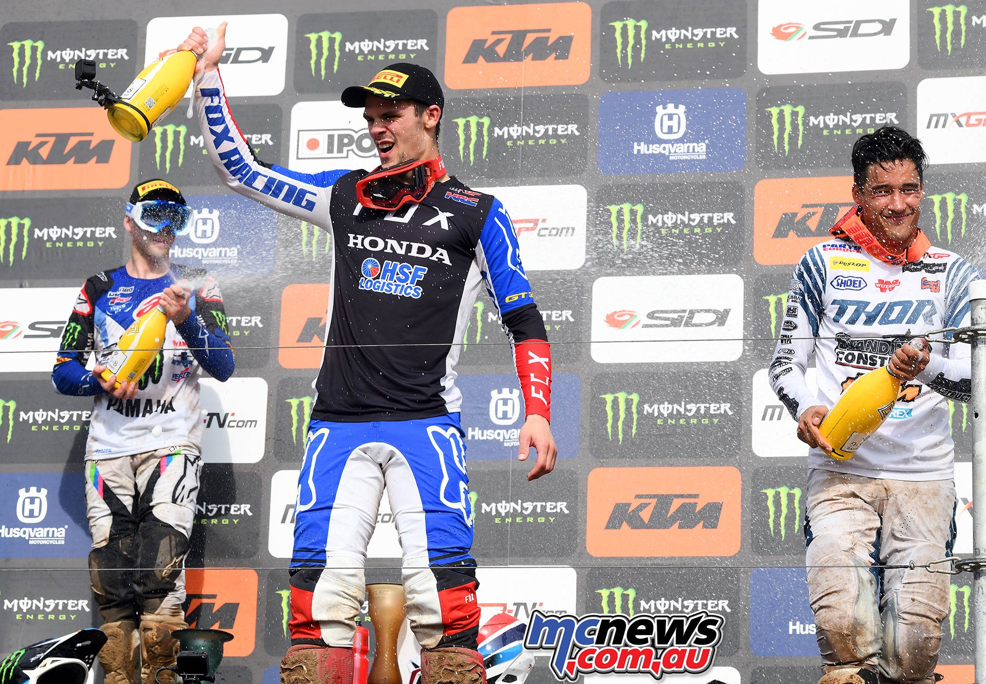 MXGP Rnd Belgium Pirelli MX Gajser podium