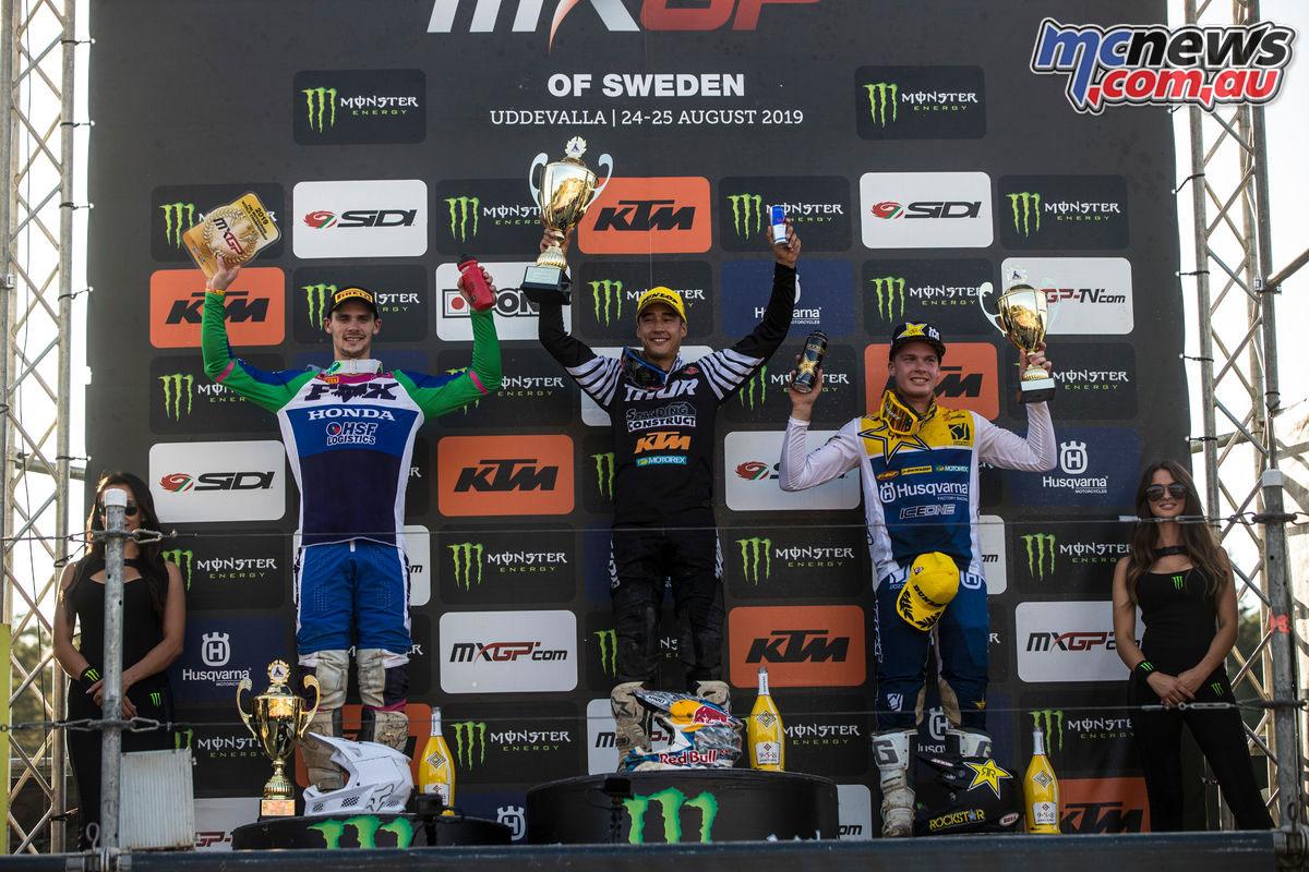 MXGP Sweden Rnd Uddevalla MXGP podium