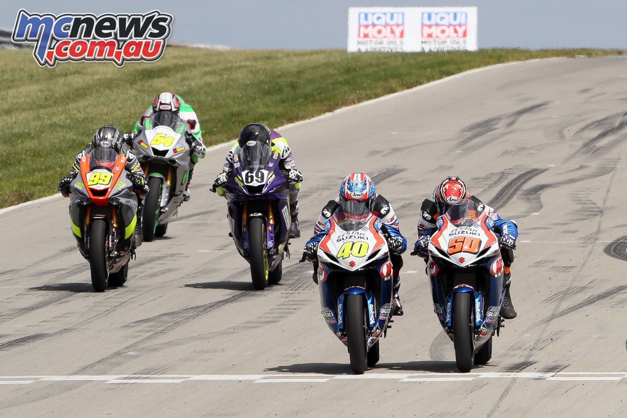 MotoAmerica Rnd Pittsburgh Sunday Supersport Sean Dylan Kelly Bobby Fong