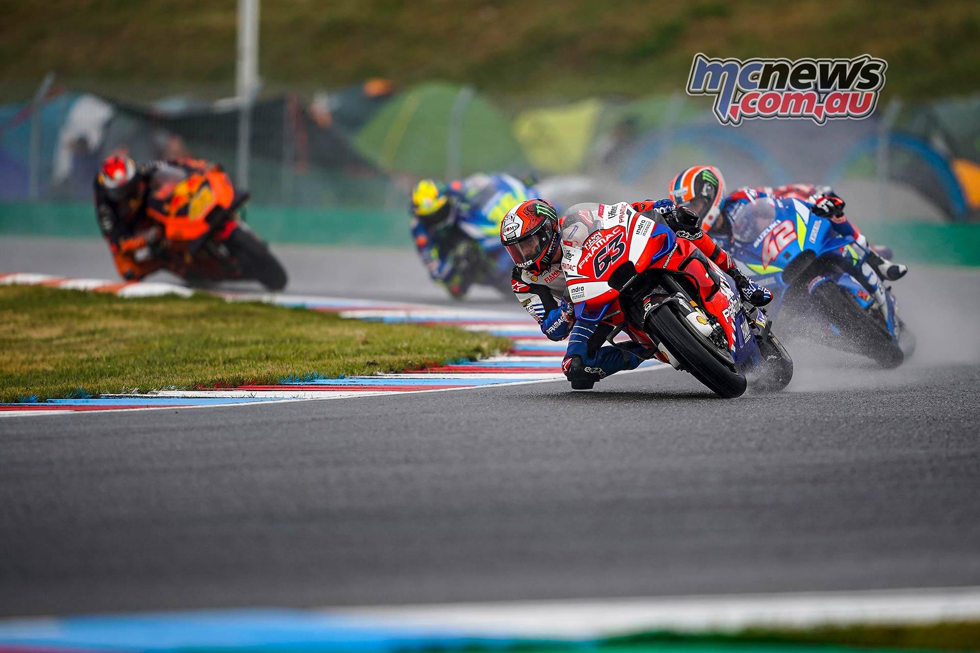 MotoGP Brno QP Bagnaia Rins Mir