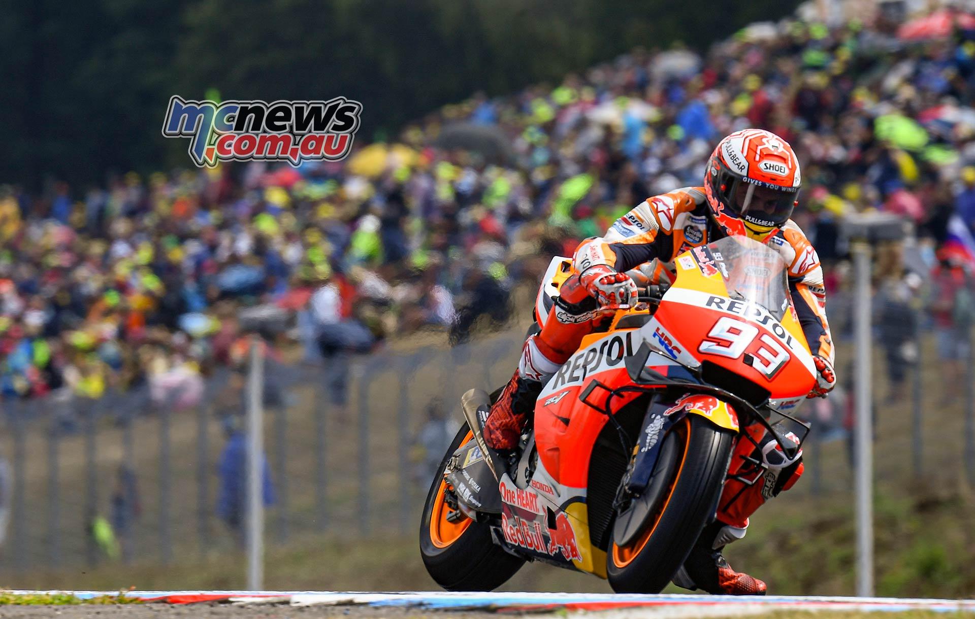 MotoGP Brno QP Marquez Wet Brakes