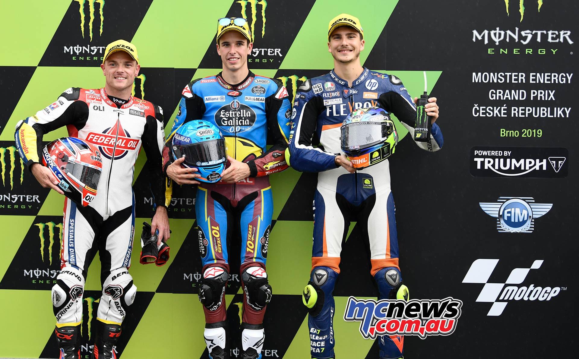 MotoGP Brno QP Moto QP Marquez Lowes Baldassarri