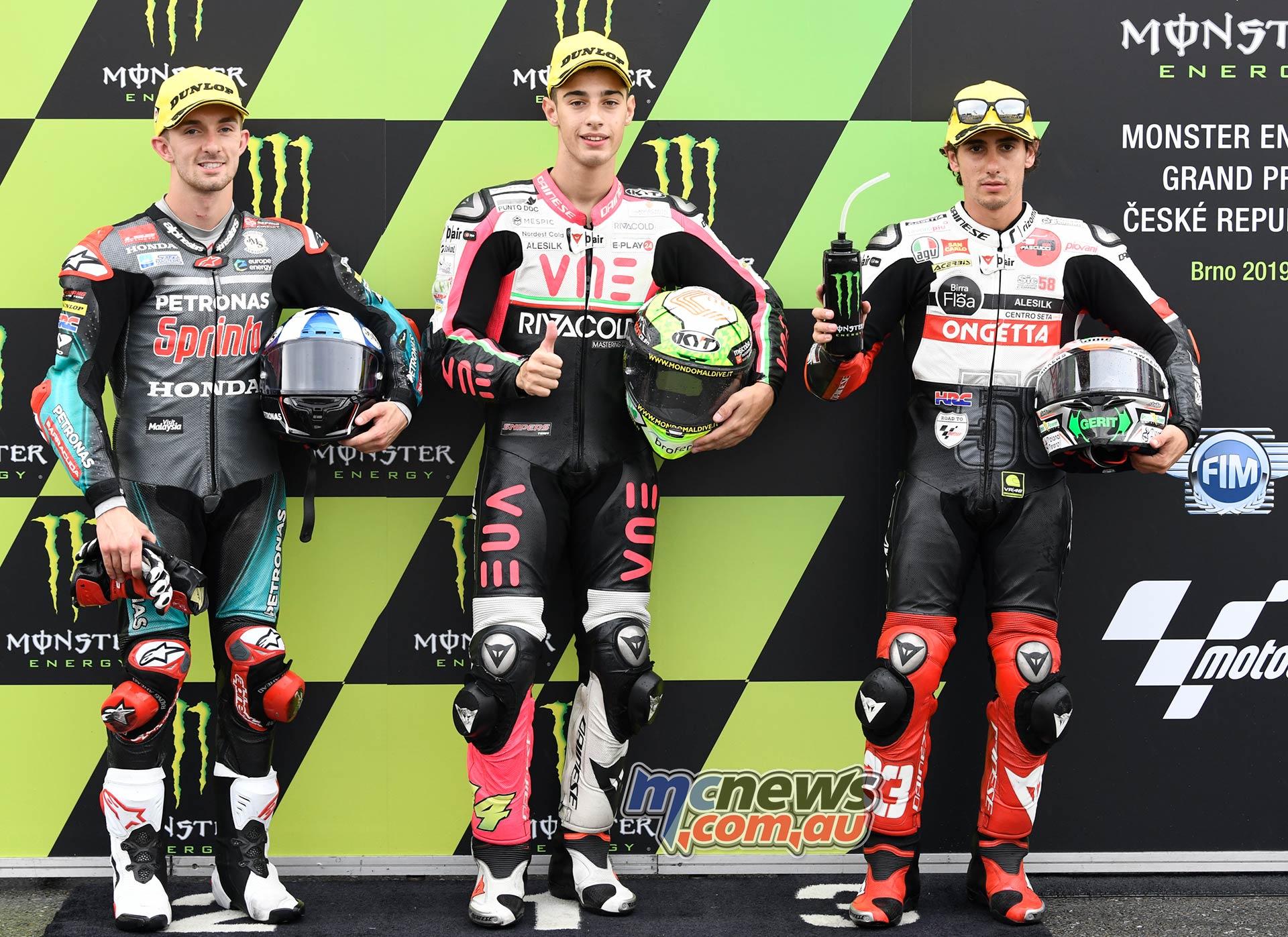MotoGP Brno QP Moto QP Arbolino McPhee Antonelli