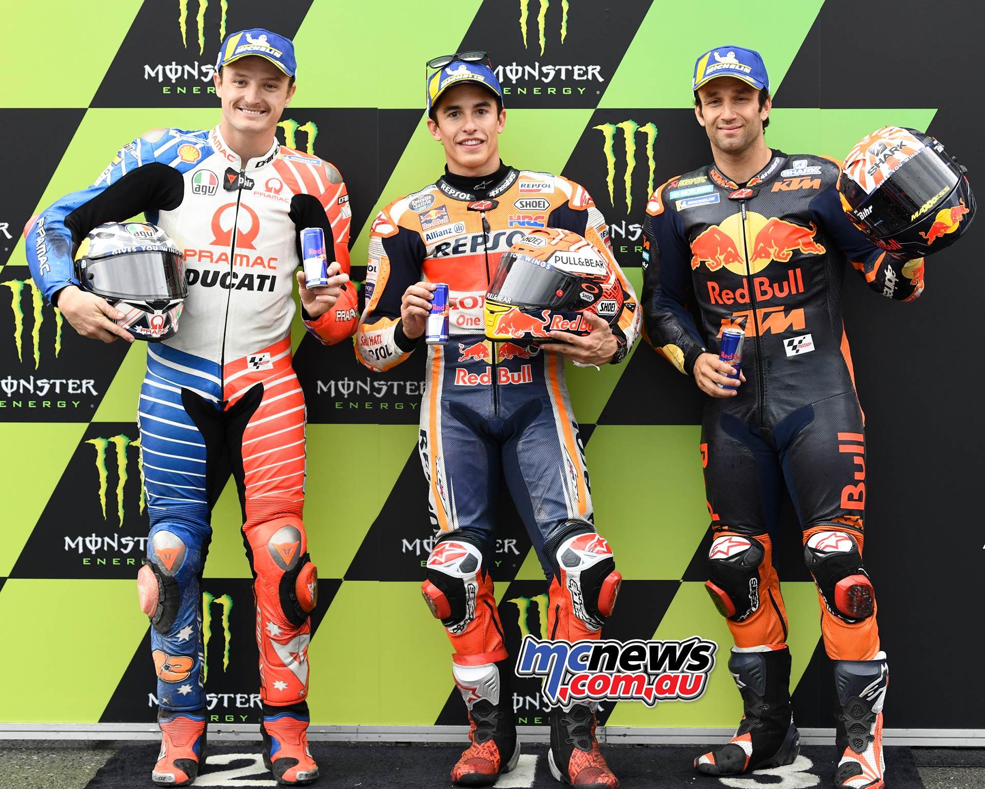 MotoGP Brno QP QP Marquez Miller Zarco
