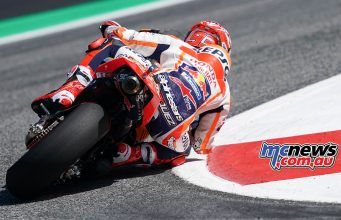 MotoGP Rnd Austria Fri Marquez Rear