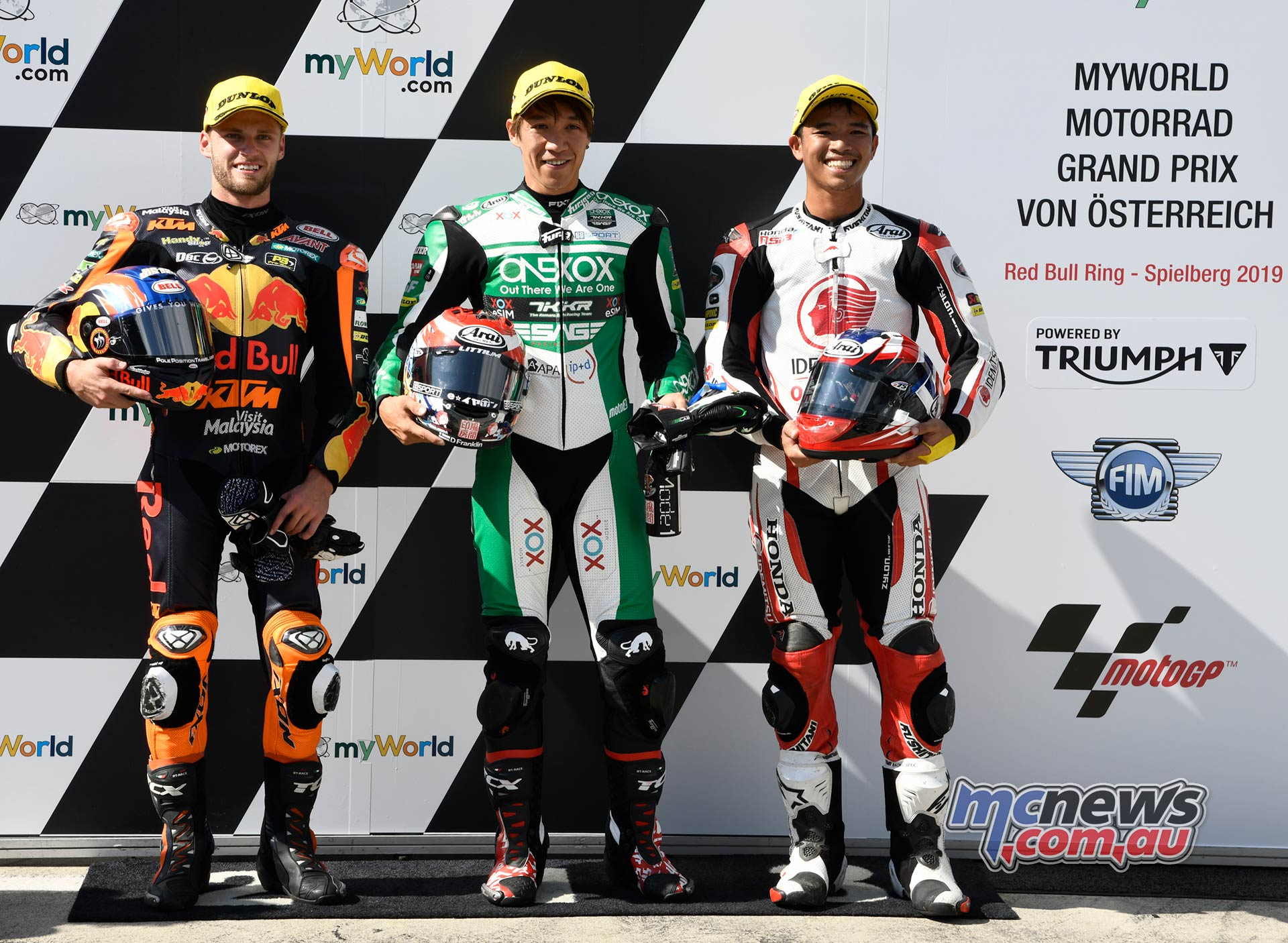 MotoGP Rnd Austria QP Moto Tetsuta Nagashima Binder Chantra