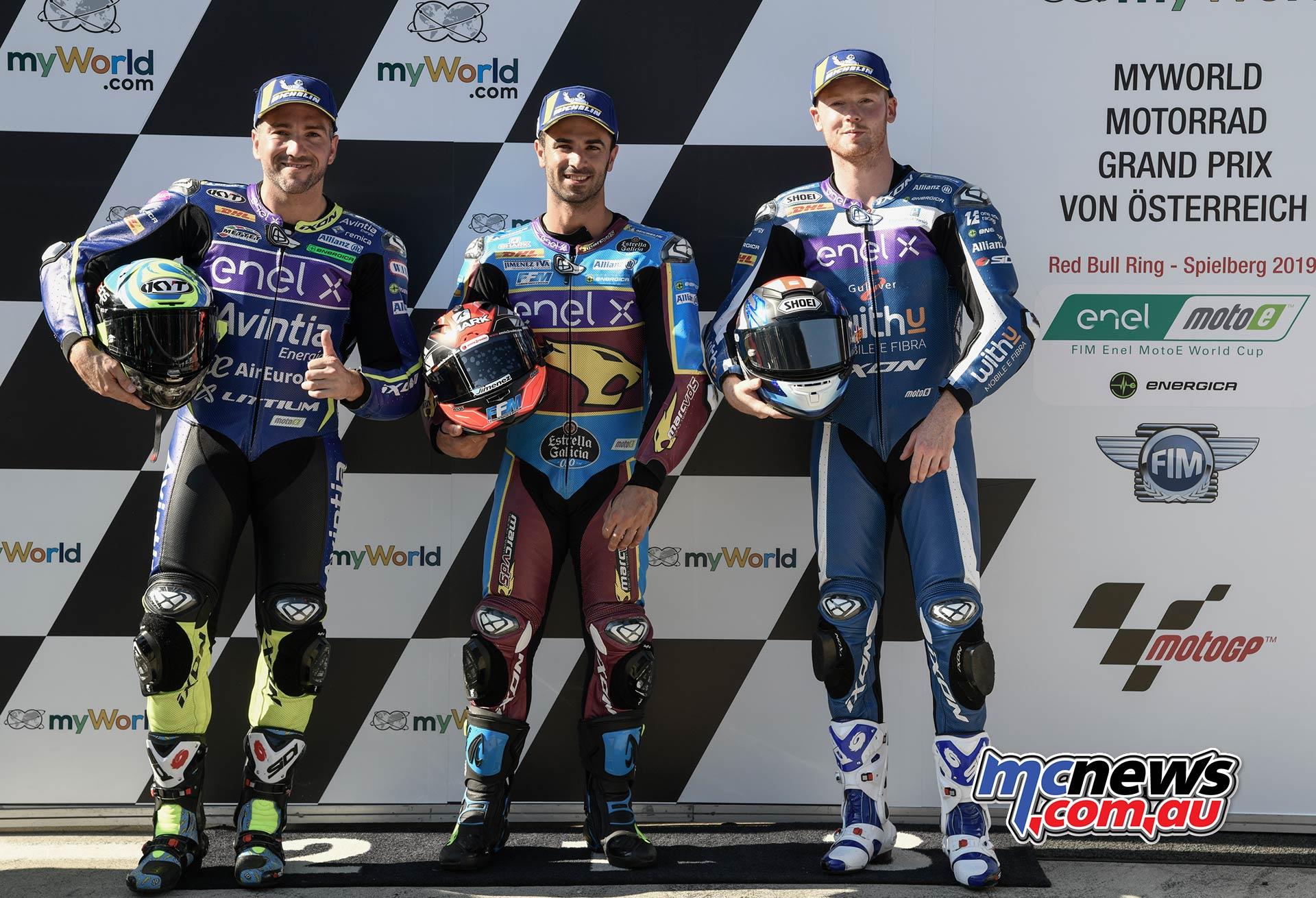 MotoGP Rnd Austria QP MotoE DiMeglio Simeon Smith