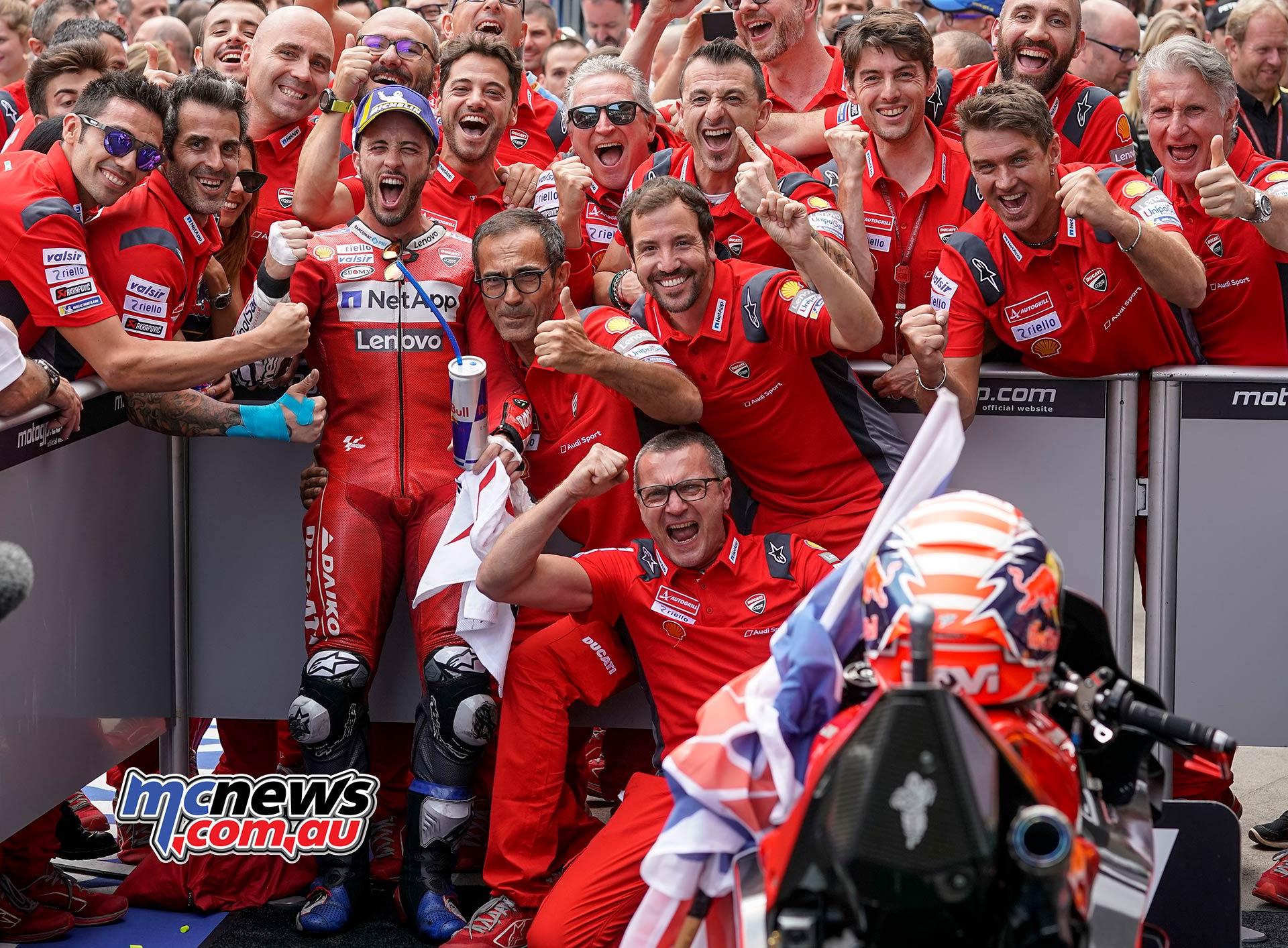 MotoGP Rnd RedBullRing Race Dovizioso Celebrate