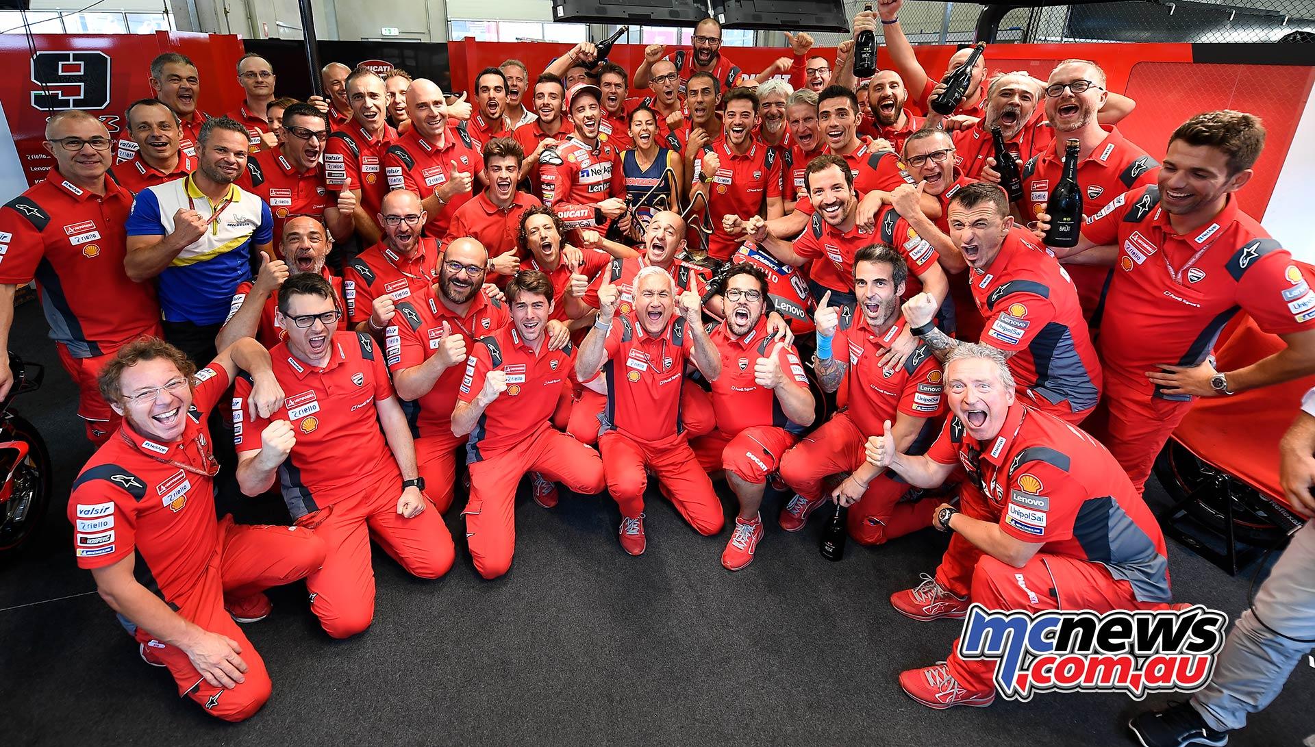 MotoGP Rnd RedBullRing Race Dovizioso Ducati Celebrate
