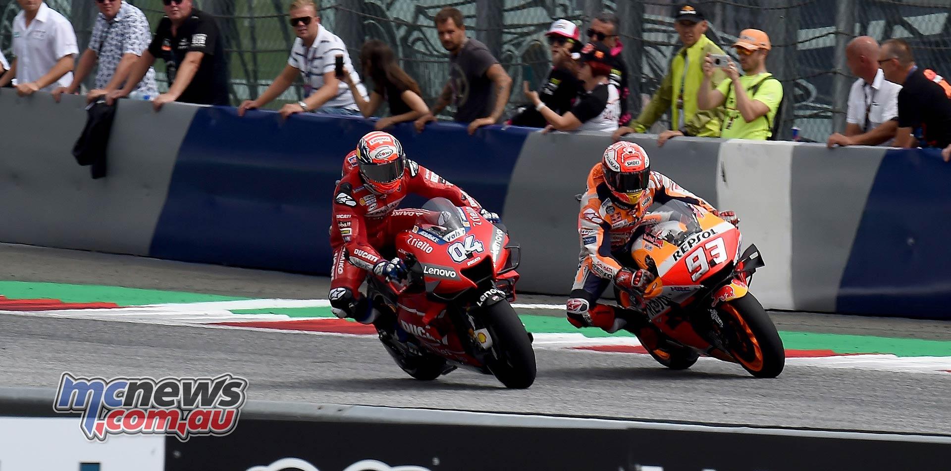 MotoGP Rnd RedBullRing Race Dovizioso Marquez