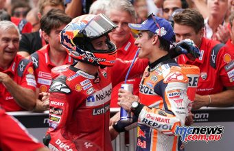 MotoGP Rnd RedBullRing Race Dovizioso Marquez ParcFerme