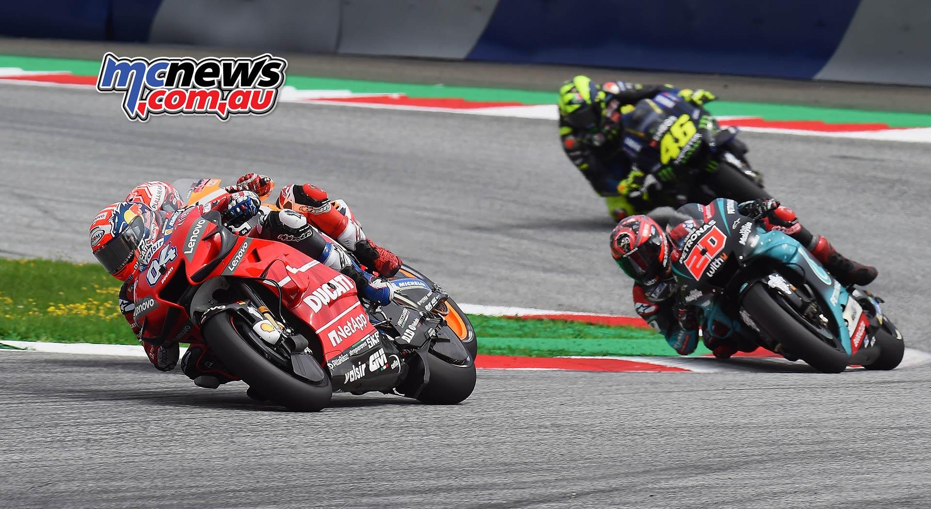 MotoGP Rnd RedBullRing Race Dovizioso Marquez Quartararo Rossi