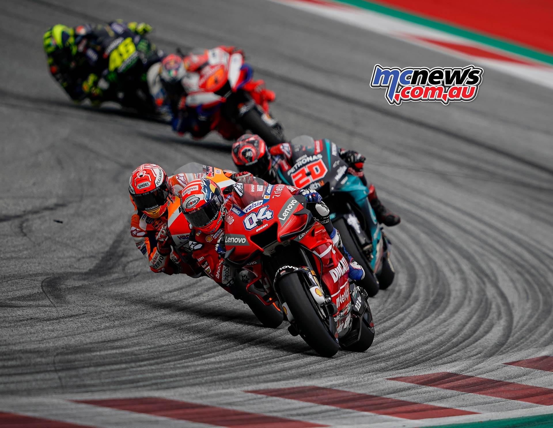 MotoGP Rnd RedBullRing Race Dovizioso Marquez Quartararo
