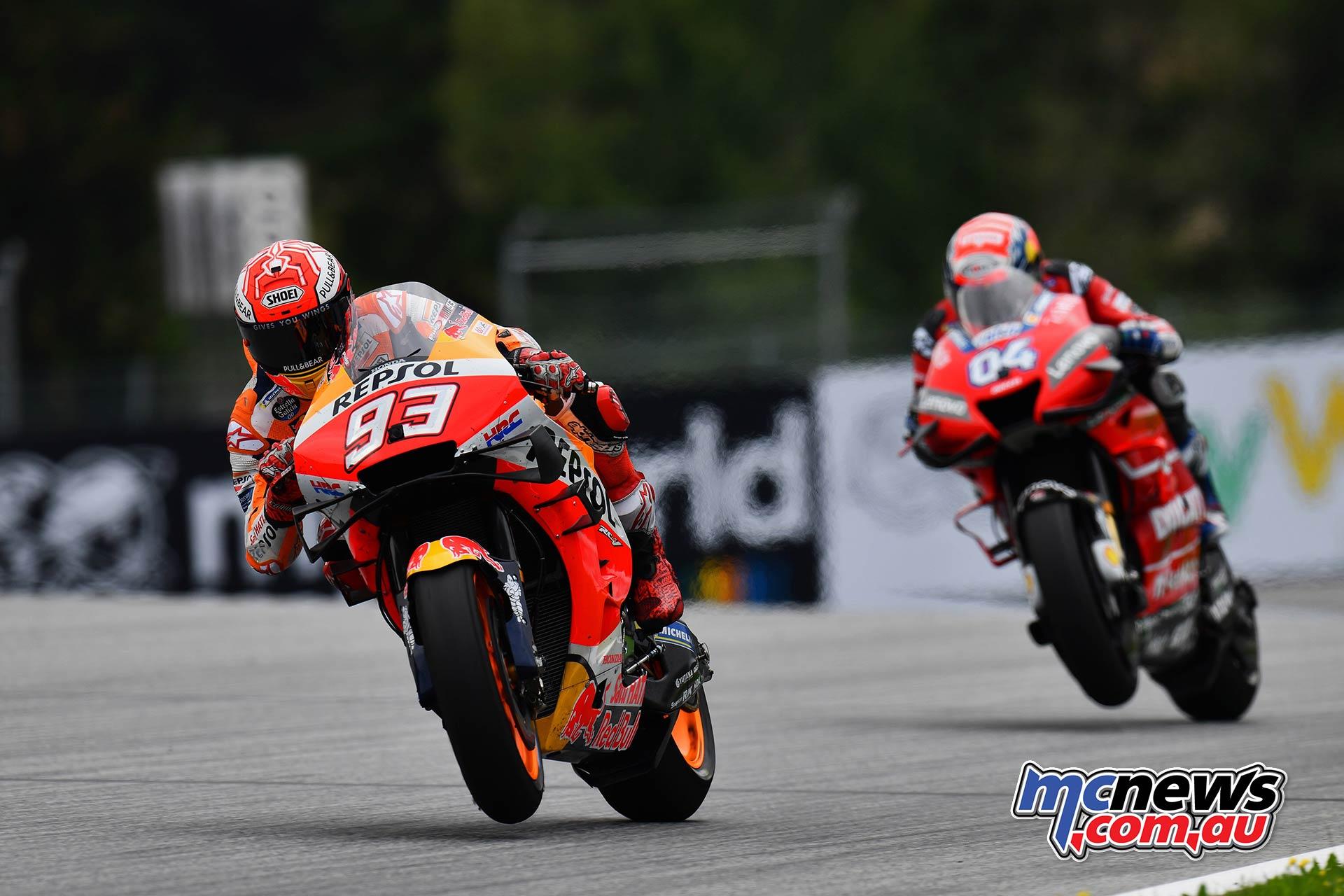 MotoGP Rnd RedBullRing Race Marquez Dovizioso