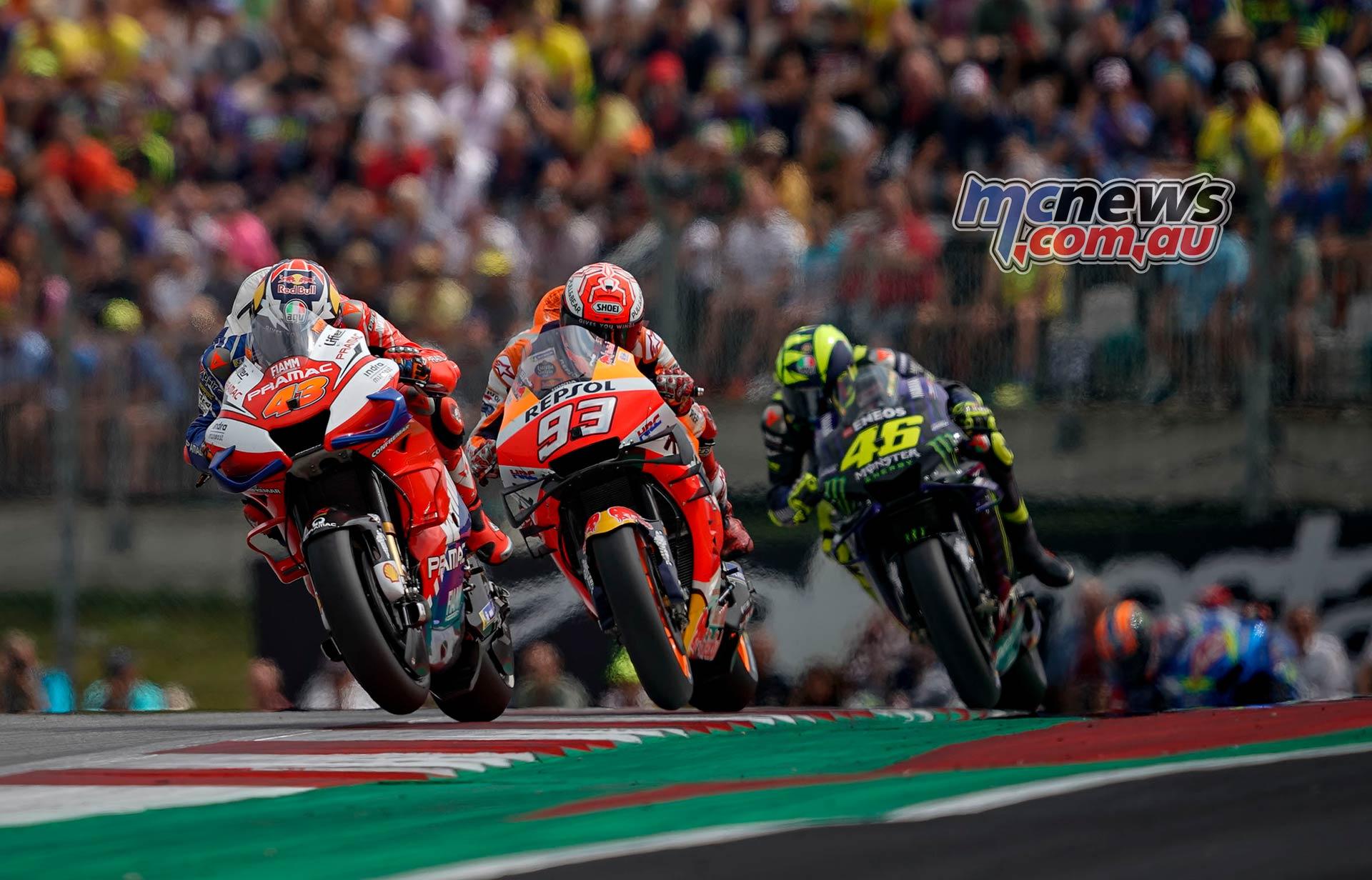 MotoGP Rnd RedBullRing Race Miller Marquez Rossi