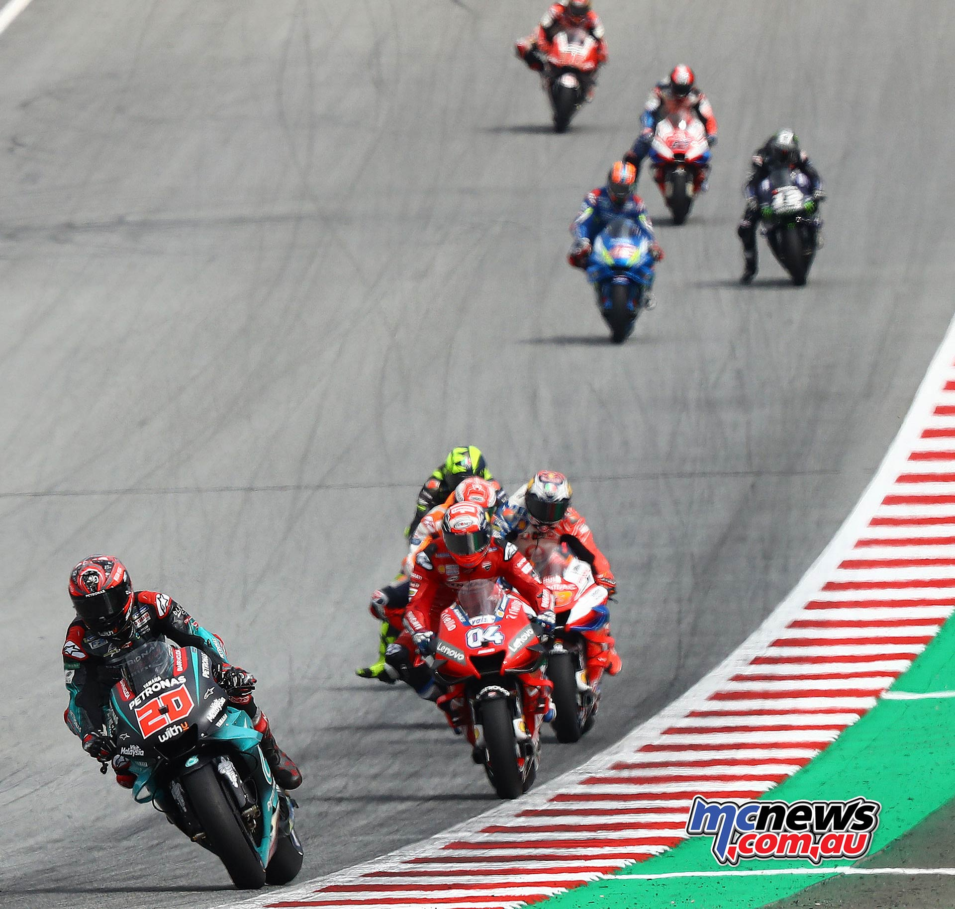 MotoGP Rnd RedBullRing Race Start Quartararo Dovizioso Marquez