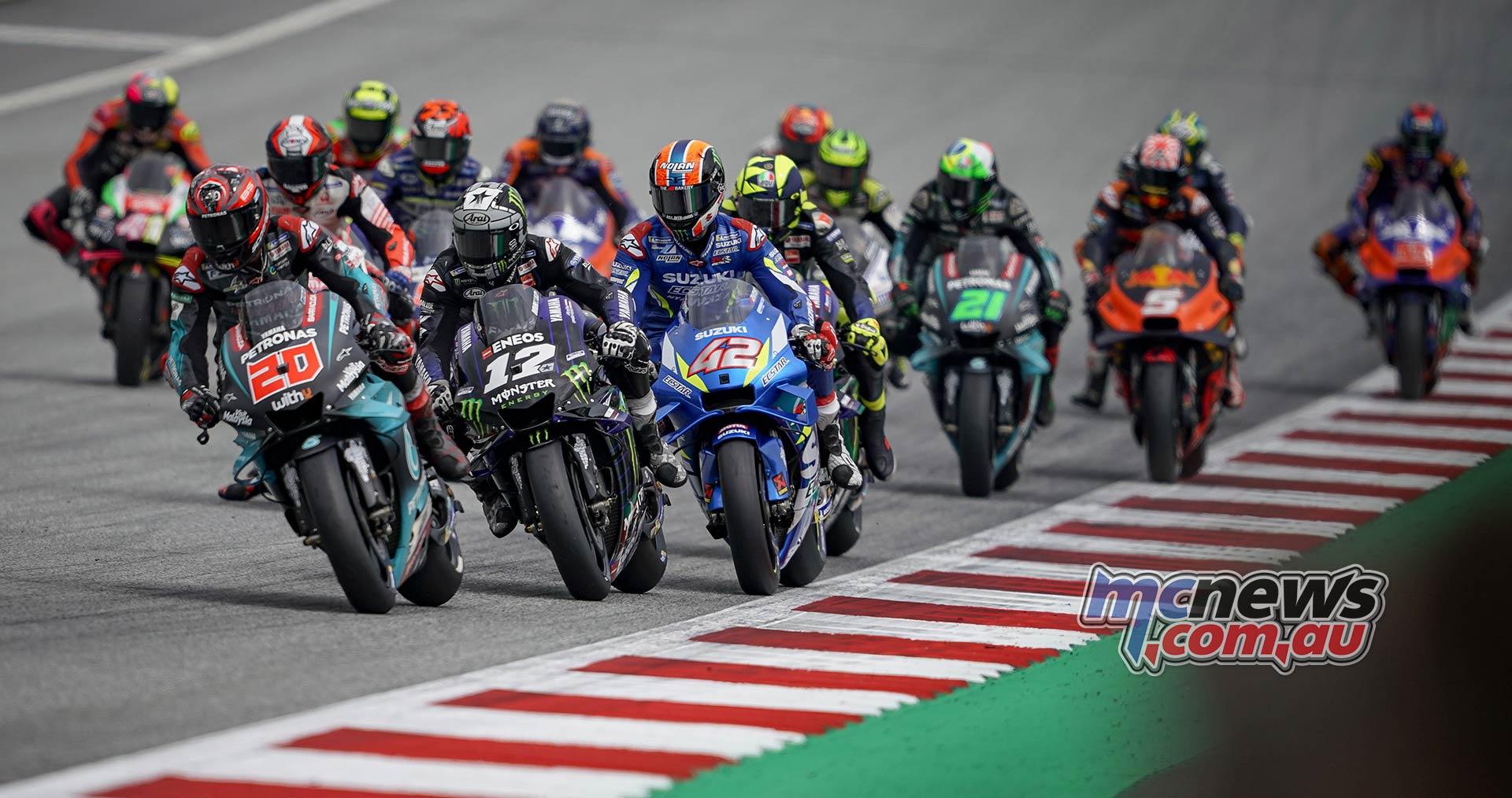 MotoGP Rnd RedBullRing Race Start Quartararo Vinales Rins