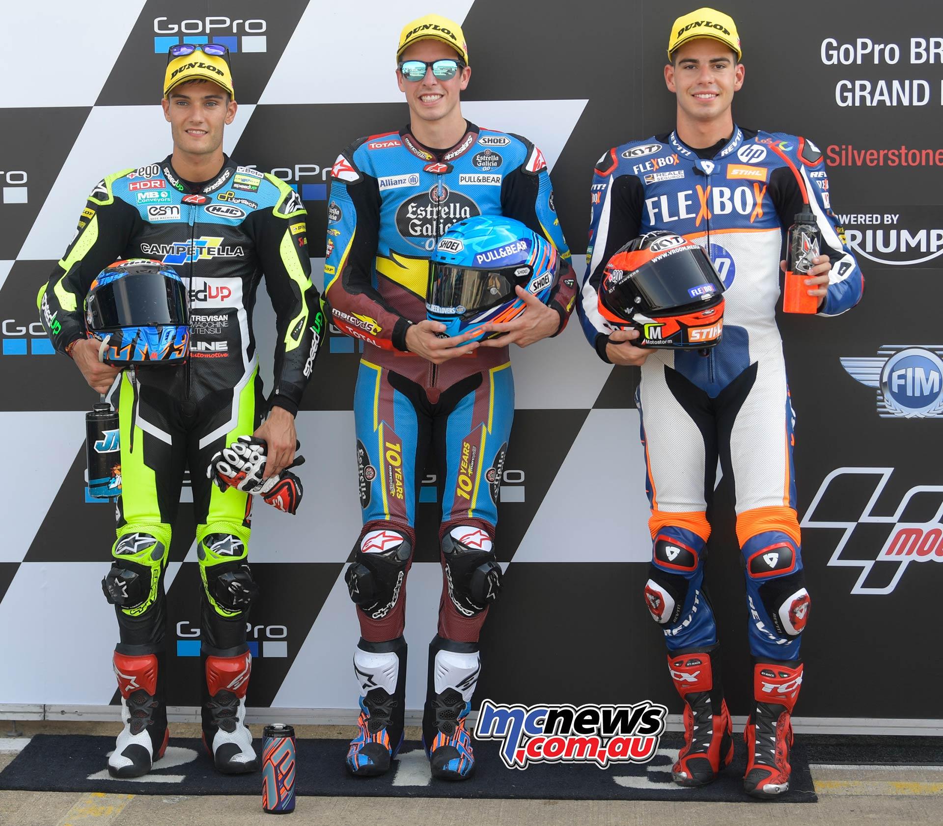 MotoGP Rnd Silverstone QP Moto Pole Alex Marquez