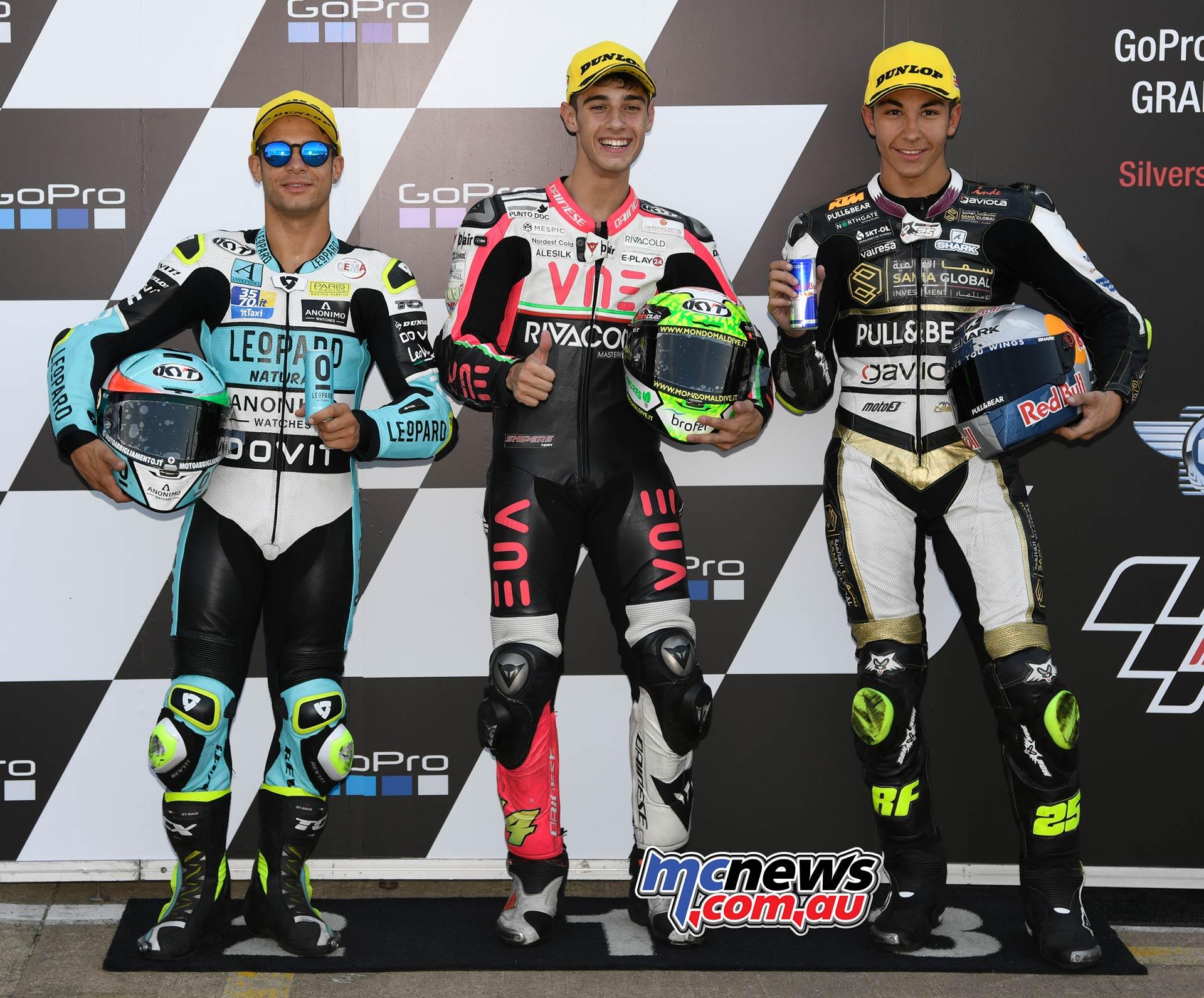 MotoGP Rnd Silverstone QP Moto Pole Tony Arbolino