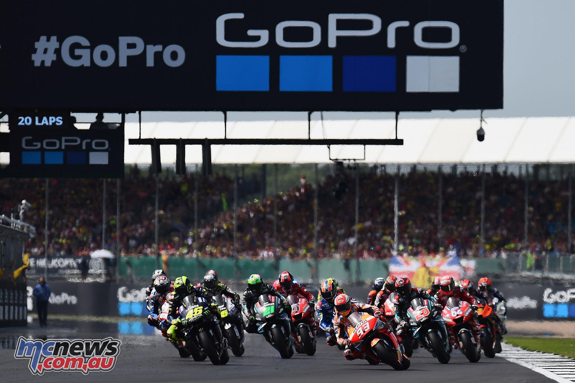 MotoGP Rnd Silverstone Start