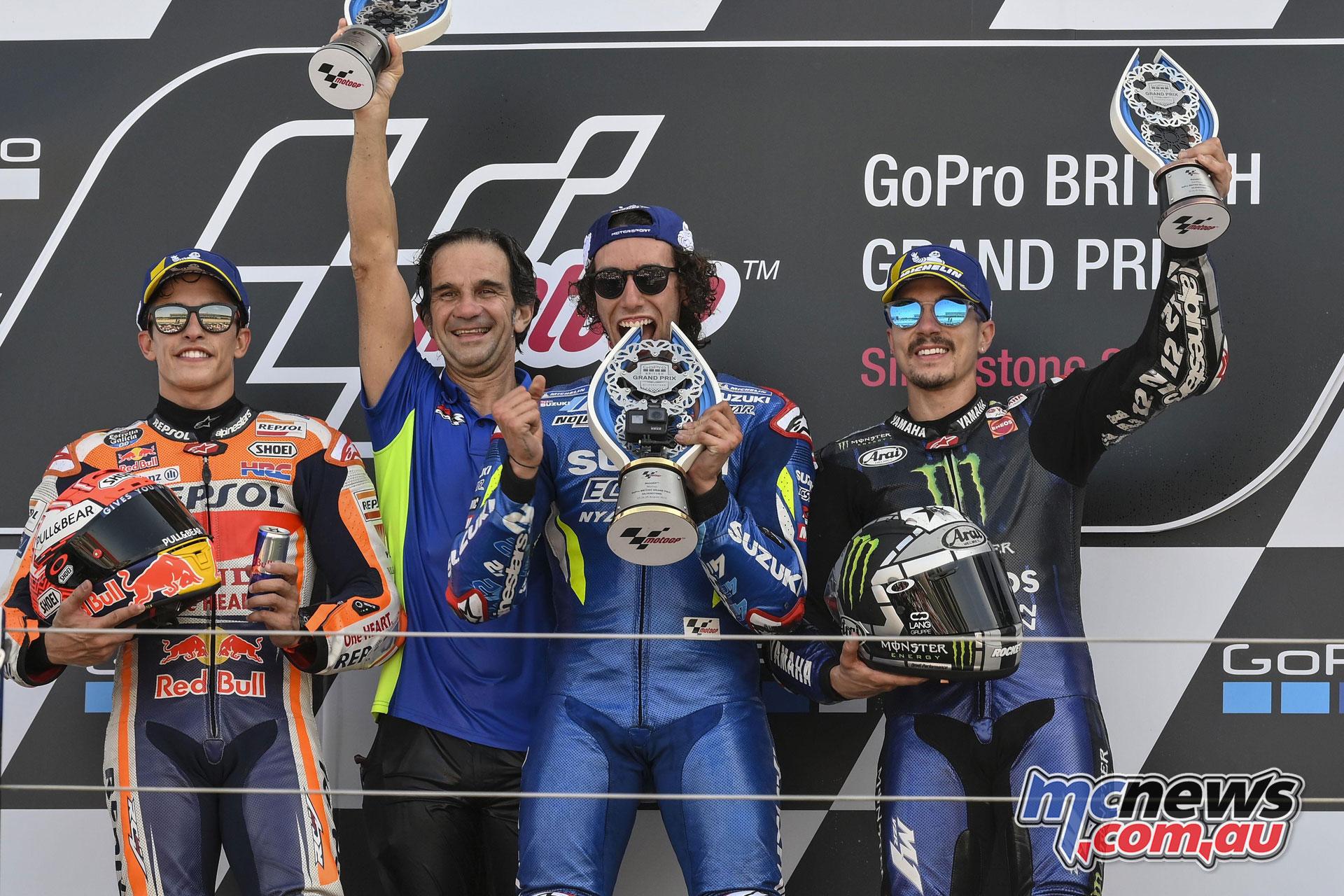 MotoGP Rnd Silverstone alex rins podium