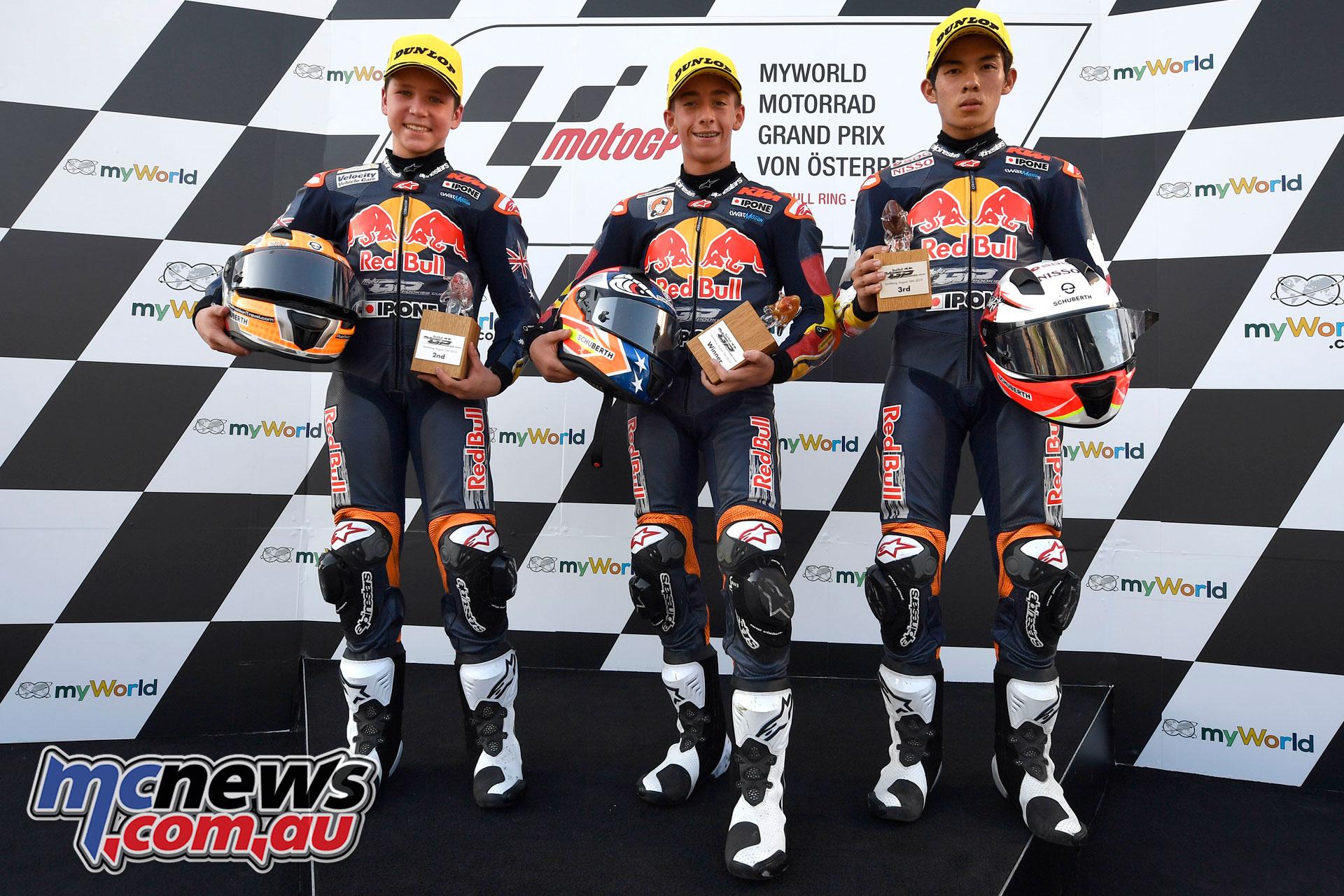 Red Bull Rookies Cup Rnd Austria Race Podium