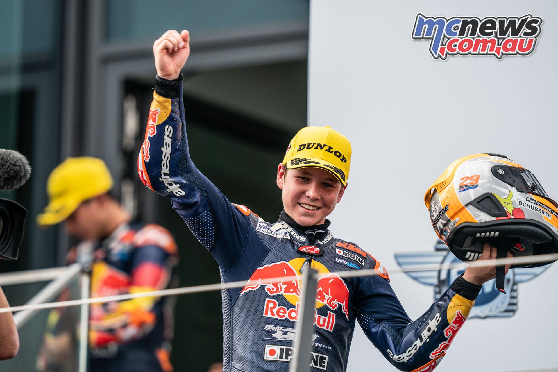 Red Bull Rookies Cup Rnd Austria Sun Billy van Eerde