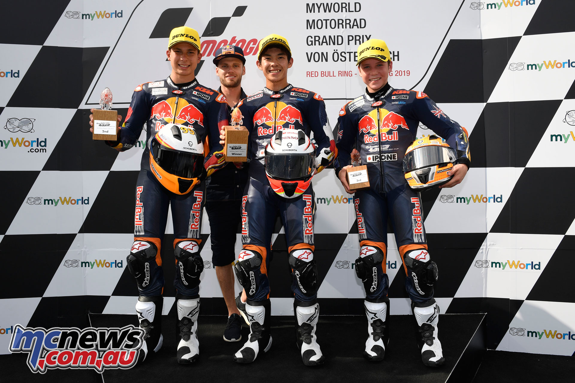 Red Bull Rookies Cup Rnd Austria Sun Race Podium