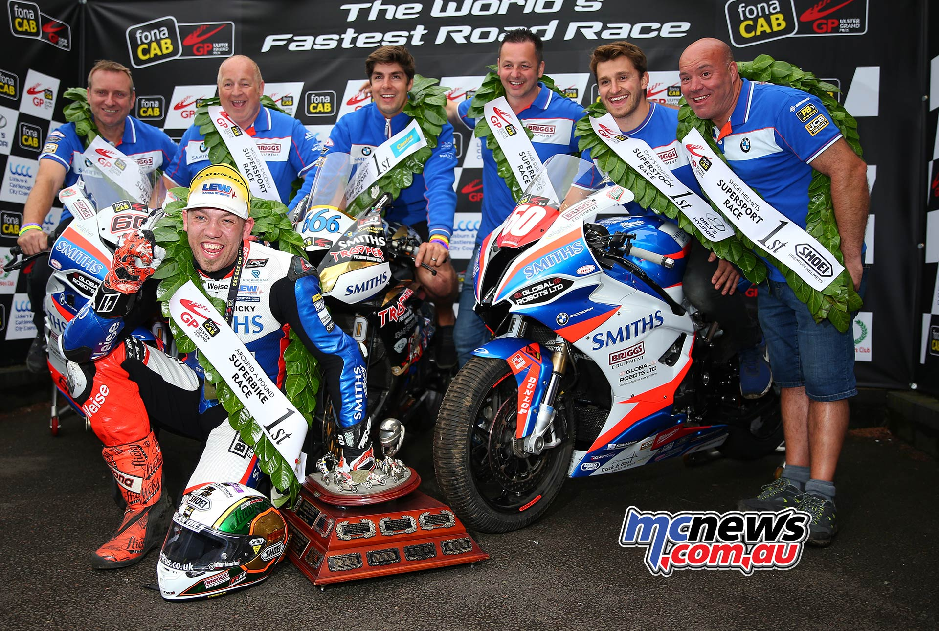 Ulster Grand Prix Dundrod Superbike Podium Hickman Dominates