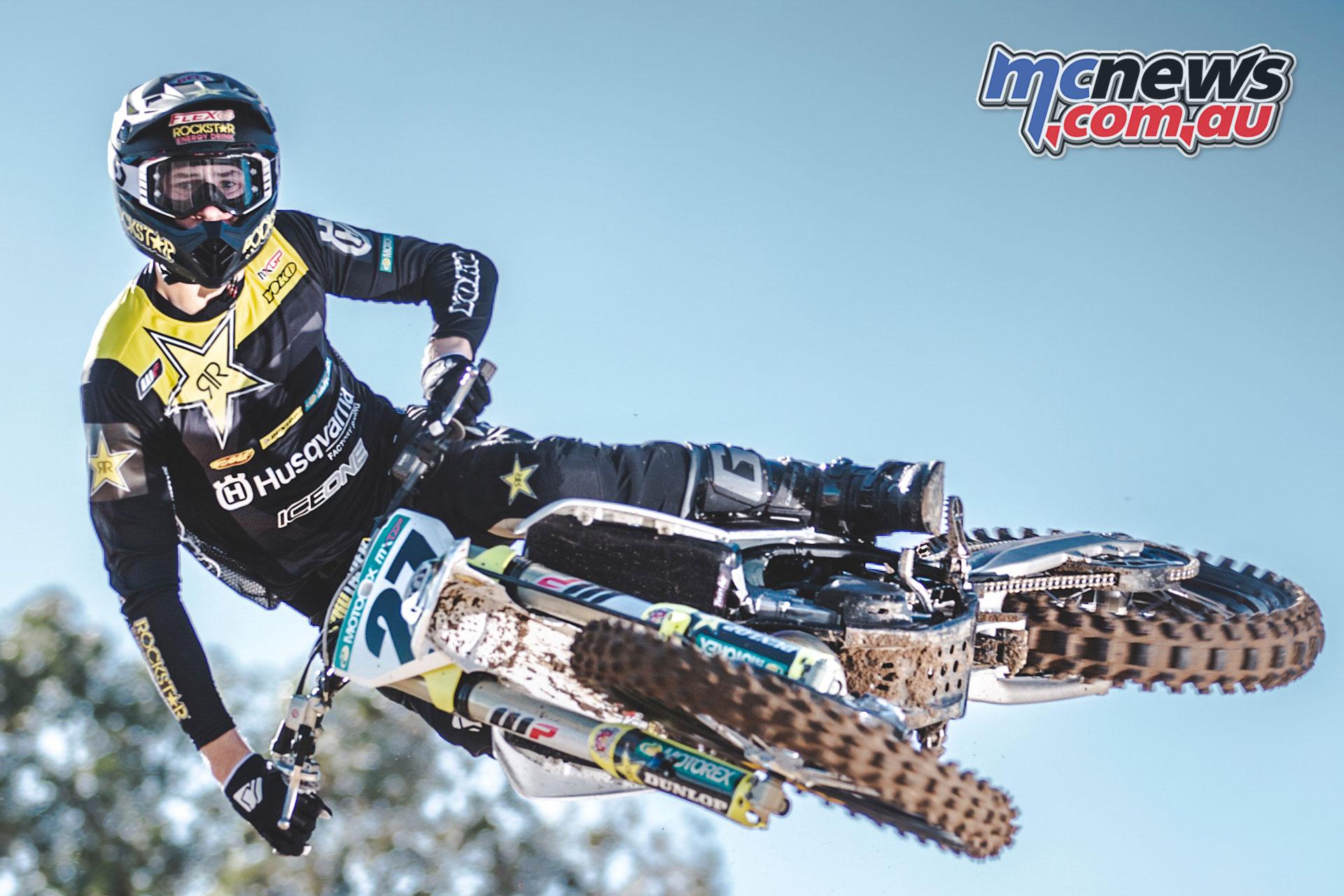 Rockstar Energy Husqvarna Factory Racing Arminas Jasikonis Action