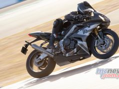 Triumph Daytona Moto Limited Edition Action