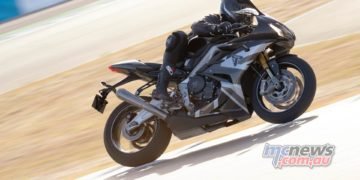 Triumph Daytona Moto Limited Edition Action