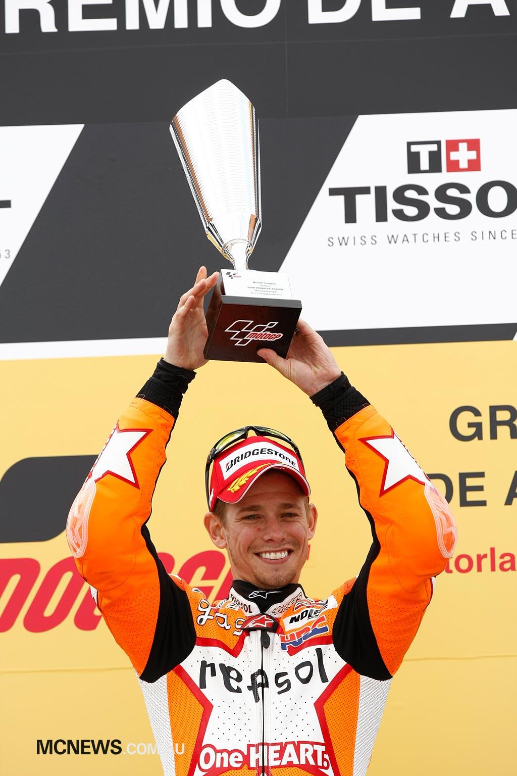 MotoGP Aragon Casey Stoner Trophy