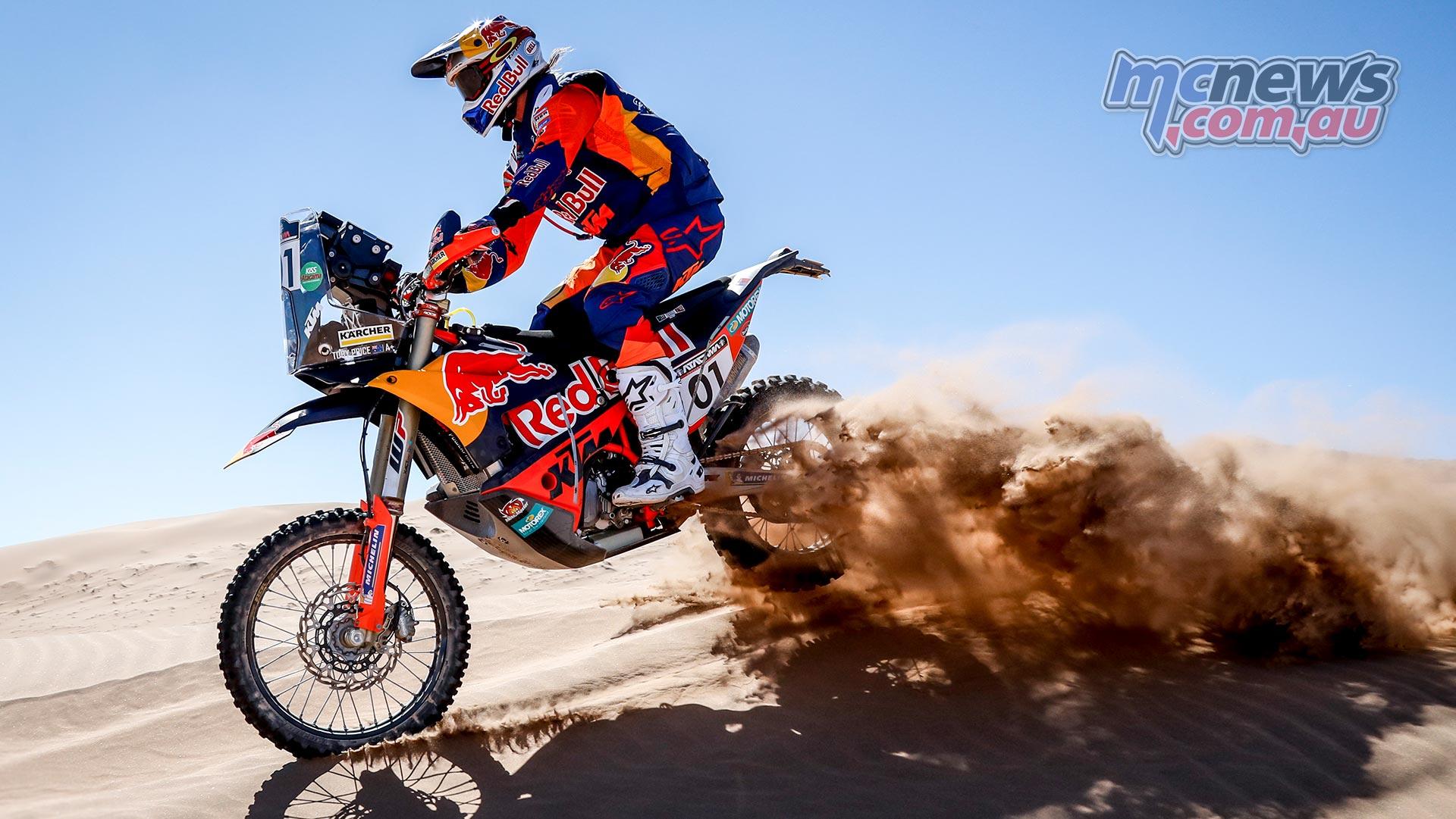 Toby Price wins stage four of Atacama Rally