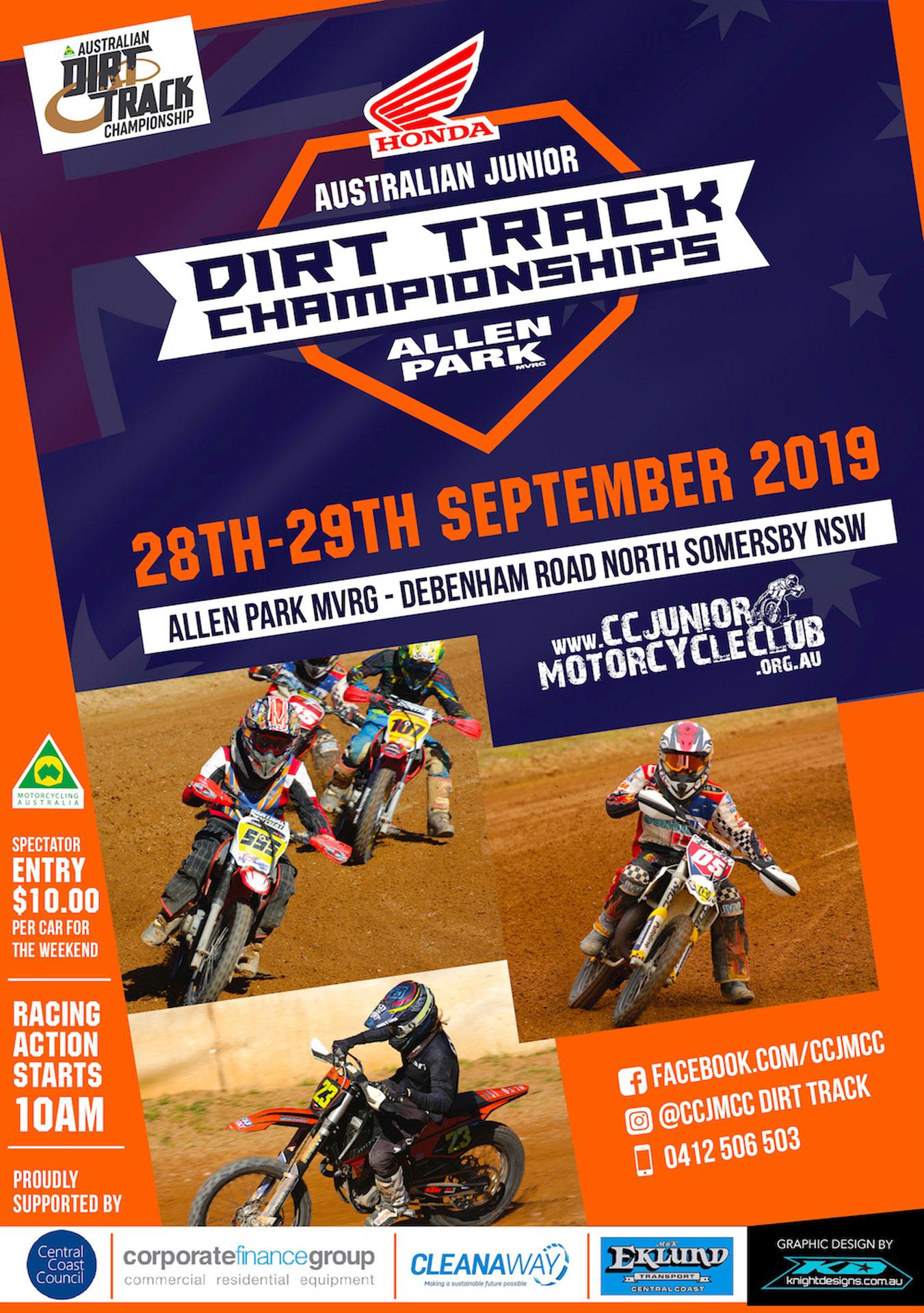 Australian Junior Dirt Track Championships Somersby Poster