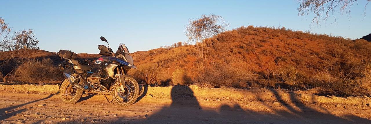 BMW GS Safari Enduro Shaun Terblanche Day sunrise Arkaroola
