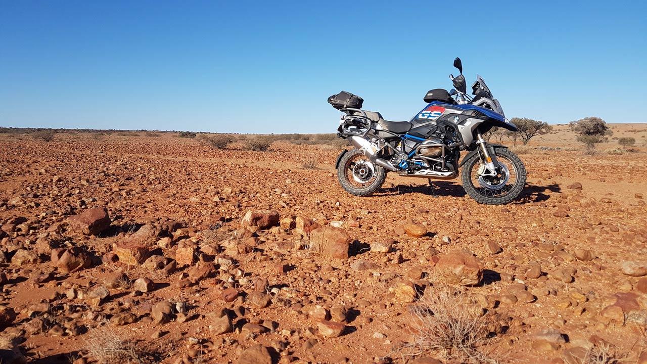 BMW GS Safari Enduro Shaun Terblanche Day trackside km from Mount Dare