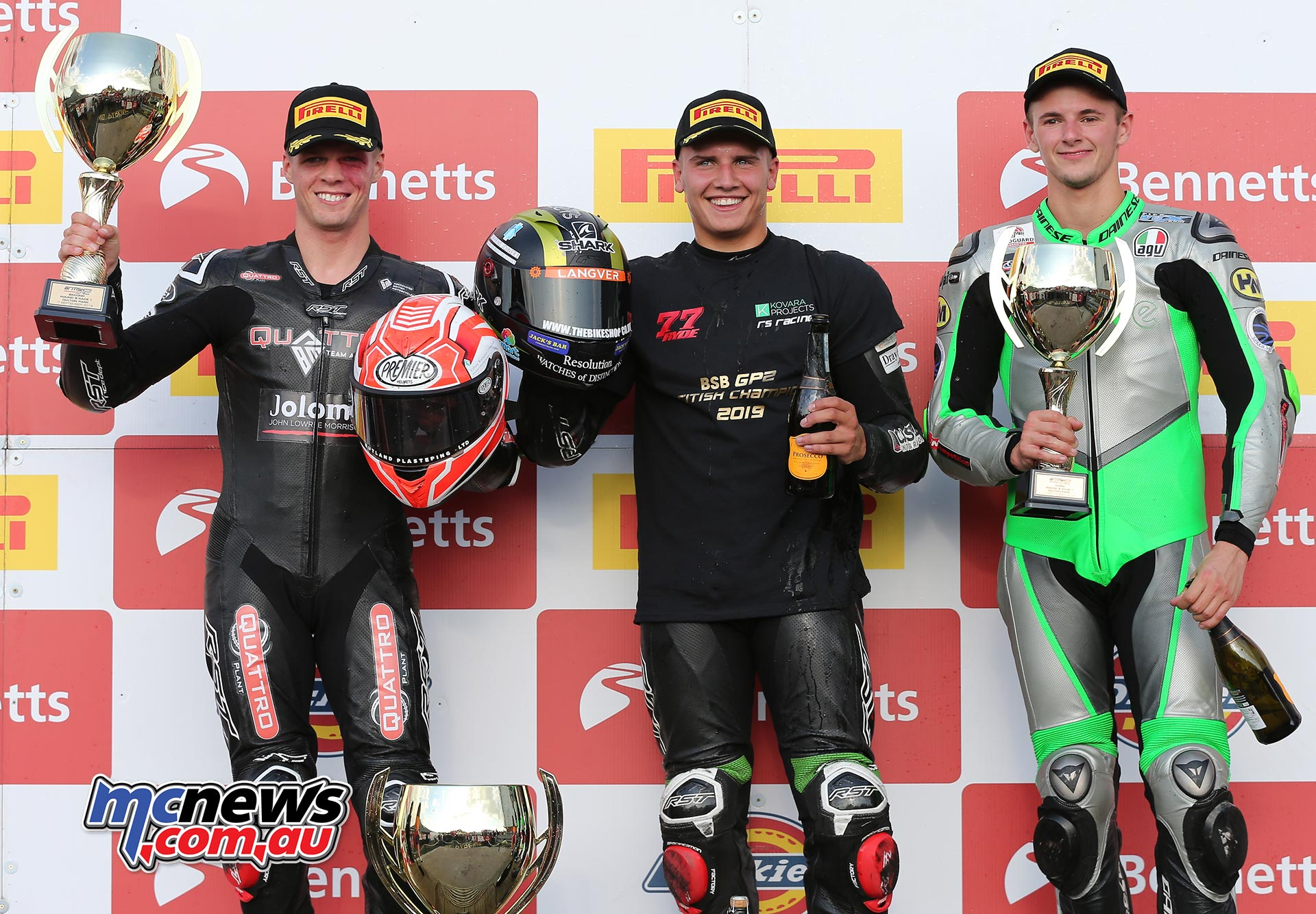BSB Rnd OultonPark Saturday Supersport GP Podium Ryde Law Wilford